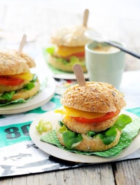 Pittige visburger met mango