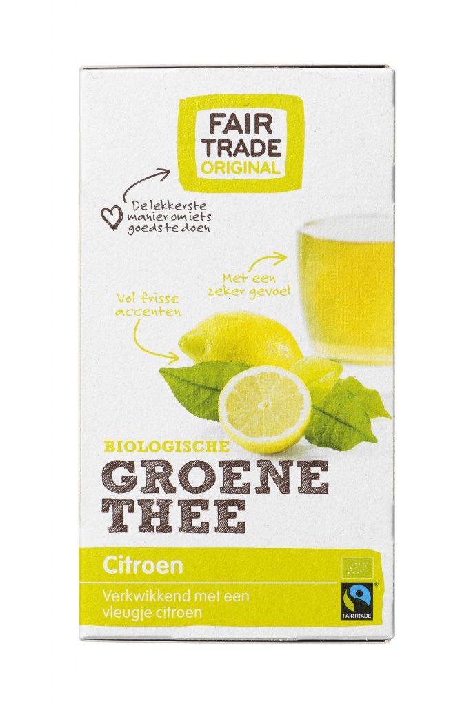 Groene thee citroen-Fair Trade Original-voor-staand